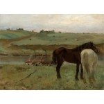 Puzzle  Grafika-01768 Edgar Degas : Chevaux dans un Pré, 1871
