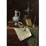 Puzzle  Grafika-01775 William Michael Harnett : Mes Trésors, 1888
