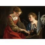 Puzzle  Grafika-01783 Orazio Gentileschi et Giovanni Lanfranco : Sainte Cecilia et un Ange, 1617/1618