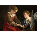 Puzzle  Grafika-01784 Orazio Gentileschi et Giovanni Lanfranco : Sainte Cecilia et un Ange, 1617/1618