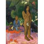 Puzzle  Grafika-01829 Paul Gauguin : Parau na te Varua ino (Mots du Diable), 1892