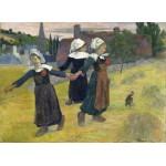 Puzzle  Grafika-01832 Gauguin Paul : Danse Bretonne des Filles à Pont Aven, 1888