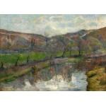 Puzzle  Grafika-01855 Paul Gauguin : Paysage Breton, 1888