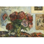 Puzzle  Grafika-01857 Paul Gauguin : Nature Morte avec Pivoines, 1884