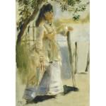 Puzzle  Grafika-01860 Auguste Renoir : Femme à la Barrière, 1866