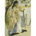Puzzle  Grafika-01861 Auguste Renoir : Femme à la Barrière, 1866