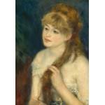 Puzzle  Grafika-01895 Auguste Renoir : Jeune Femme Tressant ses Cheveux, 1876