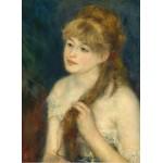 Puzzle  Grafika-01896 Auguste Renoir : Jeune Femme Tressant ses Cheveux, 1876