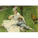 Puzzle  Grafika-01901 Auguste Renoir : Madame Monet et son Fils, 1874