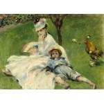 Puzzle  Grafika-01902 Auguste Renoir : Madame Monet et son Fils, 1874