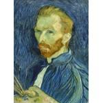 Puzzle  Grafika-01917 Vincent Van Gogh : Autoportrait, 1889