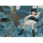Puzzle  Grafika-01922 Mary Cassatt : Petite Fille dans un Fauteuil Bleu, 1878