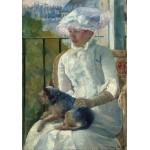 Puzzle  Grafika-01926 Mary Cassatt : Jeune Fille à la Fenêtre, 1883-1884