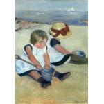 Puzzle  Grafika-01938 Mary Cassatt : Enfants jouant à la Plage, 1884