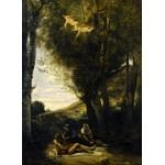 Puzzle  Grafika-01944 Jean-Baptiste-Camille Corot : Saint Sebastian Succored by the Holy Women, 1874