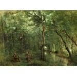 Puzzle  Grafika-01947 Jean-Baptiste-Camille Corot : Les Ramasseurs d'Anguille, 1860-1865