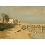Puzzle  Grafika-01953 Jean-Baptiste-Camille Corot : Pont sur la Saône à Mâcon, 1834