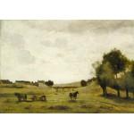 Puzzle  Grafika-01954 Jean-Baptiste-Camille Corot : Vue près d'Epernon, 1850-1860