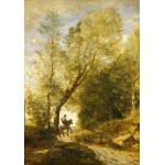 Puzzle  Grafika-01957 Jean-Baptiste-Camille Corot : La Forêt de Coubron, 1872