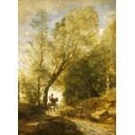 Puzzle  Grafika-01958 Jean-Baptiste-Camille Corot : La Forêt de Coubron, 1872