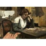 Puzzle  Grafika-01960 Jean-Baptiste-Camille Corot : Lecture de Jeune Fille, 1868