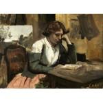 Puzzle  Grafika-01961 Jean-Baptiste-Camille Corot : Lecture de Jeune Fille, 1868