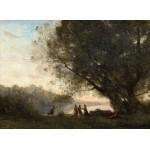 Puzzle  Grafika-01967 Jean-Baptiste-Camille Corot : Danse sous les Arbres au Bord du Lac, 1865-1870