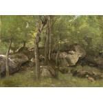 Puzzle  Grafika-01972 Jean-Baptiste-Camille Corot : Rochers en Forêt de Fontainebleau, 1860-1865
