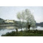 Puzzle  Grafika-01974 Jean-Baptiste-Camille Corot : Ville-d'Avray, 1865