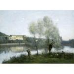 Puzzle  Grafika-01975 Jean-Baptiste-Camille Corot : Ville-d'Avray, 1865