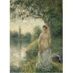 Puzzle  Grafika-02020 Pissarro Camille : La baigneuse, 1895