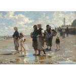 Puzzle  Grafika-02058 John Singer Sargent : En Route Pour la Pêche, 1878