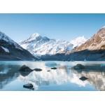 Puzzle  Grafika-02084 Réflexion sur le Mont Cook dans Hooker Lake, Parc national Aoraki, Nouvelle-Zélande
