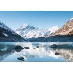 Puzzle  Grafika-02085 Réflexion sur le Mont Cook dans Hooker Lake, Parc national Aoraki, Nouvelle-Zélande