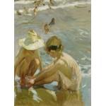 Puzzle  Grafika-02115 Joaquin Sorolla y Bastida : Le Pied Blessé, 1909