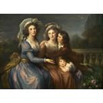 Puzzle  Grafika-02169 Louise-Élisabeth Vigee le Brun : La Marquise de Pezay et la Marquise de Rougé avec ses fils Alexis e