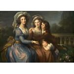 Puzzle  Grafika-02170 Louise-Élisabeth Vigee le Brun : La Marquise de Pezay et la Marquise de Rougé avec ses fils Alexis e