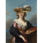 Puzzle  Grafika-02173 Elisabeth Vigée-Lebrun : Autoportrait au Chapeau de Paille, 1782