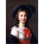 Puzzle  Grafika-02177 Louise-Élisabeth Vigee le Brun : autoportrait, 1781