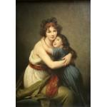 Puzzle  Grafika-02182 Elisabeth Vigée-Lebrun : Madame Vigée-Lebrun et sa fille, 1789
