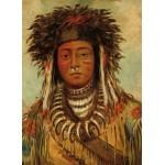 Puzzle  Grafika-02229 George Catlin : Chef Indien - Ojibbeway, 1843
