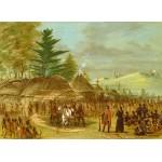 Puzzle  Grafika-02231 George Catlin : Chef des Indiens de Taensa recevant La Salle le 20 mars 1682, 1847-1848
