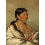 Puzzle  Grafika-02234 George Catlin : Femme Aigle - Shawano, 1830