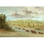 Puzzle  Grafika-02236 George Catlin :Expédition de La Salle En entrant dans le Mississippi à Canoës le 6 février 1682