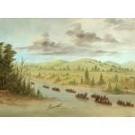 Puzzle  Grafika-02237 George Catlin : L'expedition de La Salle En entrant dans le Mississippi à Canoës le 6 février 1682,