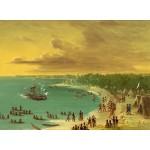 Puzzle  Grafika-02240 George Catlin : Première navigation du voilier Griffin sur le Lac Erie le 7 août 1679, 1847-1848