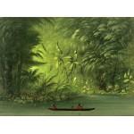 Puzzle  Grafika-02241 George Catlin : Entrée dans une lagune, rive de l'Amazonie, 1854-1869