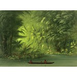 Puzzle  Grafika-02243 George Catlin : Entrée dans une lagune, rive de l'Amazonie, 1854-1869