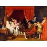 Puzzle  Grafika-02252 Jean-Auguste-Dominique Ingres : François Ier reçoit les derniers soupirs de Léonard de Vinci, 1818