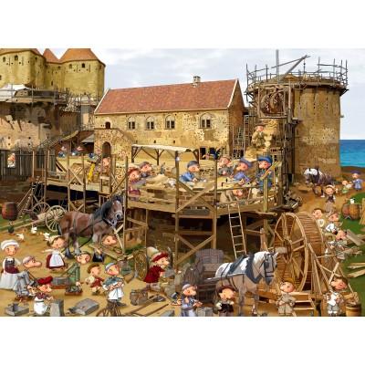 Puzzle Grafika-02484 François Ruyer - Construction au Moyen-Âge